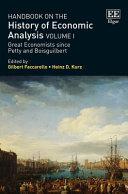 Handbook On The History Of Economic Analysis