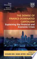 The Demise of Finance dominated Capitalism