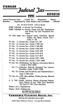 Standard Federal Tax Reporter 91 Vol 9