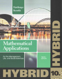 Mathematical Applications for the Management  Life  and Social Sciences  Hybrid  Enhanced Webassign Printed Access Card for Applied Math  Single Term