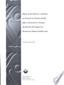 Report of the Advisory Committee on Research on Women s Health
