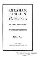 Abraham Lincoln  The war years Book
