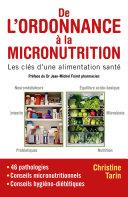 Pdf De l'ordonnance à la micronutrition Telecharger