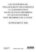 Pdf Les systèmes de financement des crédits à l'exportation dans les pays membres et non membres de l'OCDE Les systèmes de financement des crédits à l'exportation dans les pays membres et non membres de l'OCDE Supplément 2004 Telecharger