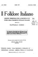 Il Folklore italiano