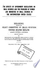 Hearings  Reports and Prints of the Senate Select Committee on Small Business Book