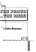 Men of Good Will  The proud and the meek  Book 5  The proud  Book 6  The meek