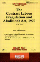 The Contract Labour (Regulation and Abolition) Act, 1970