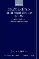 Sin and Society in Fourteenth century England
