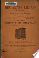Bulletin of New Books