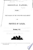 Sessional Papers Of The Province Of Canada