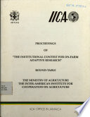 Proceedings of  The Institutional Context for on farm adaptive research