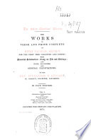 The Works in Verse and Prose Complete of Henry Vaughan, Silurist