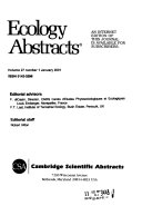 Ecology Abstracts Book