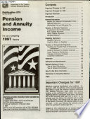 Pension and Annuity Income  including Simplified General Rule