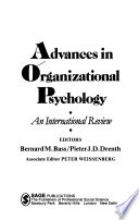 Advances in organizational psychology