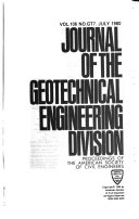 Journal Of The Geotechnical Engineering Division Book PDF