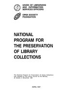 National Program for the Preservation of Library Collections