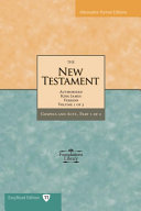 The New Testament of the King James Bible: Gospel and Acts Pdf/ePub eBook