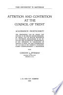 Attrition and Contrition at the Council of Trent