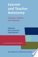 Learner And Teacher Autonomy Book PDF