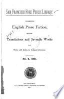 Classified English Prose Fiction