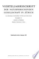 Vierteljahrsschrift der Naturforschenden Gesellschaft in Zürich