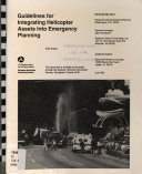 Guidelines for Integrating Helicopter Assets Into Emergency Planning