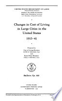 Changes In Cost Of Living In Large Cities In The United States 1913 41