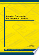 Materials Engineering and Automatic Control II