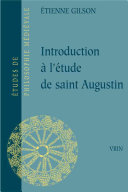Introduction à l'étude de saint Augustin