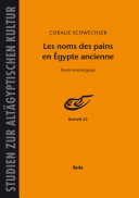 Pdf Les noms des pains en Egypte ancienne Telecharger