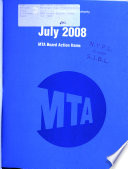 MTA Board Action Items