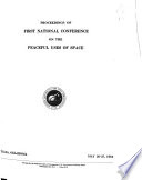 Proceedings of ... National Conference on the Peaceful Uses of Space
