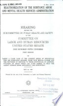 Reauthorization of the Substance Abuse and Mental Health Services Administration Book
