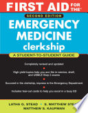 First Aid for the Emergency Medicine Clerkship Book