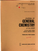 Journal of General Chemistry of the U S S R  in English Translation