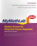 Mymathlab Plus Integrated Course Sequence -- Standalone Access Card