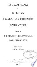 Cyclopedia of Biblical, Theological, and Ecclesiastical Literature