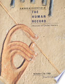 The Human Record  To 1700 Book