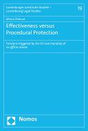 Effectiveness versus Procedural Protection