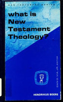 What Is New Testament Theology