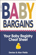 Baby Bargains  2019 2020 update  Your Baby Registry Cheat Sheet  13th edition