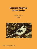 Ceramic Analysis in the Andes