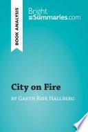 City on Fire by Garth Risk Hallberg  Book Analysis  Book