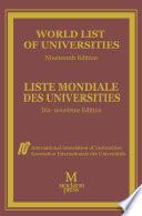 World List of Universities   Liste Mondiale des Universites