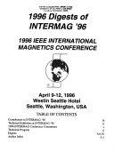 1996 Digests of Intermag  96 Book