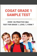 CogAT Grade 1 Sample Test Book