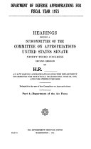 Department of Defense Appropriations for Fiscal Year 1975, Hearings Before ..., 93-2