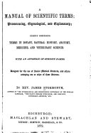 A Manual of Scientific Terms